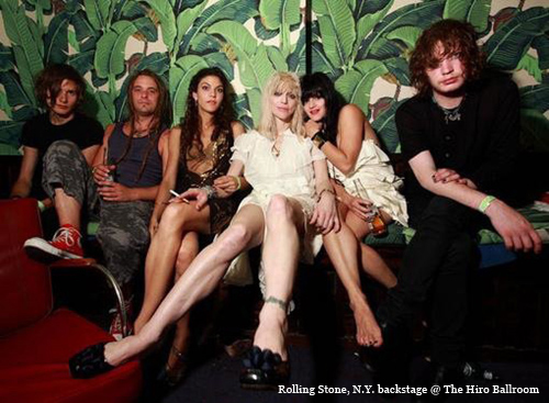 Bethia Beadman and Courtney Love, Rolling Stone Magazine, New York